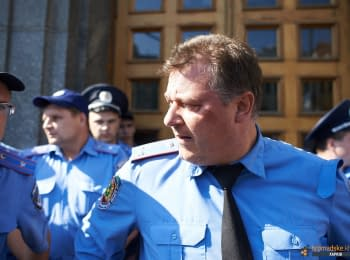 У здания Харьковского горсовета произошли столкновения с милицией