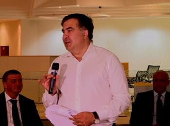 Mikheil Saakashvili in the Centre Citizen Service