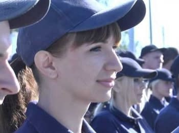 Kharkiv police officers received a certificate of training completion
