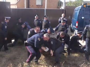 Задержание милицией журналистов Громадского Харьков