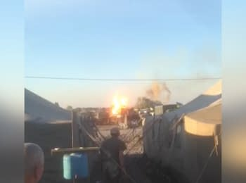 Tank exploded at the military unit in Dnipropetrovsk region