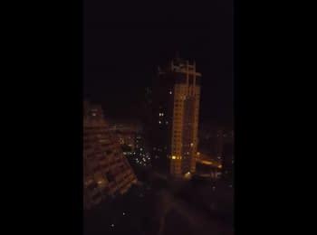 Бойовики стріляють з ЗРК в Донецьку, 05.10.2015