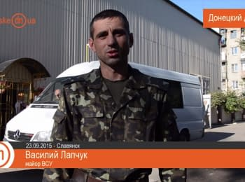 Car for the ATO soldiers from Slovyansk volunteers