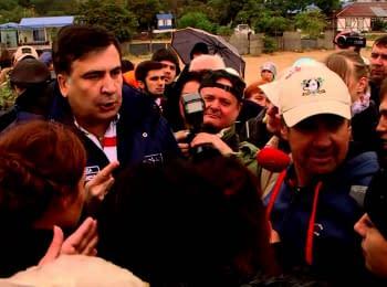Mikheil Saakashvili at Kryzhanivka