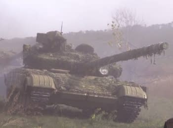 Soldiers about the withdrawal of tanks from under Debaltseve