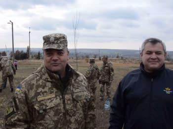 Аллея возрождения на Донбассе