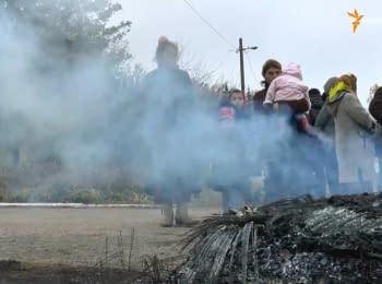 Жители села Саливонки палят шины в знак несогласия с результатами выборов
