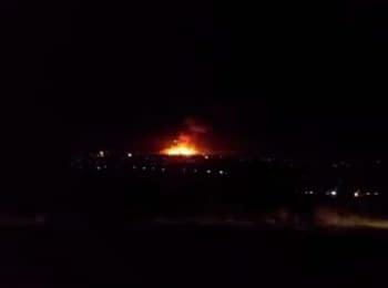 У Сватовому луганської області загорілись склади з боєприпасами, 29.10.2015