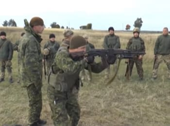 Ukrainian-Canadian training at the Yavorivsky firing field