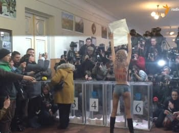 "I haven't had time to see - Klitschko about Femen's ""protest"" on polling station"