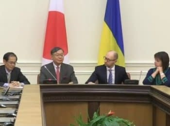 Arseniy Yatsenyuk and Ambassador of Japan signed an Agreement on financial assistance