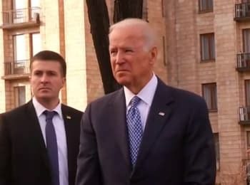 US Vice President visited the Alley of Heavenly Hundred Heroes in Kyiv