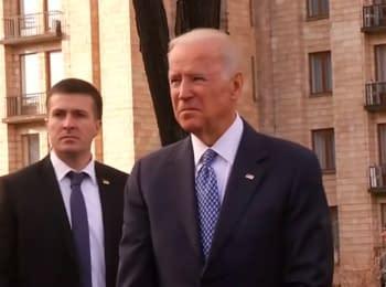 Віце-президент США відвідав Алею Героїв Небесної сотні у Києві