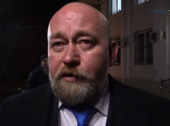 Допрос Владимира Рубана по делу Савченко в Донецке