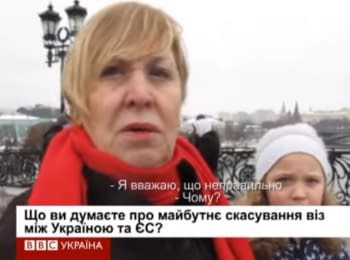 "Muscovites about visa-free regime: ""Go if you want to"""