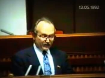 Вячеслав Чорновіл про сепаратизм у Криму, 1992 рік