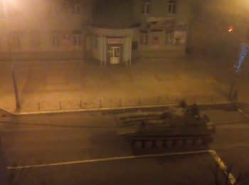 Військова техніка бойовиків в Макіївці, 24.12.2015