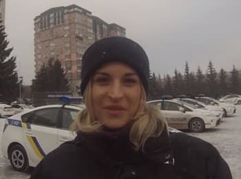 Congratulation on the New Year 2016 from Patrol police of Ukraine