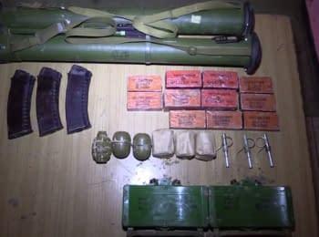 В Попасной задержаны пять боевиков и обнаружен тайник с боеприпасами