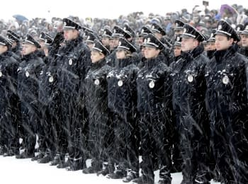 Patrol police officers of Dnipro took the oath (2016)