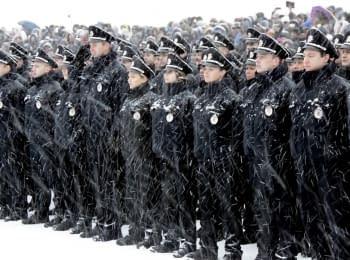 Патрульна поліція Дніпра склала присягу (2016)