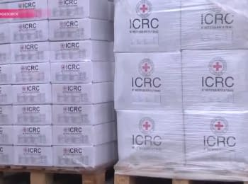 Red Cross helps residents of the frontline Novoazovsk
