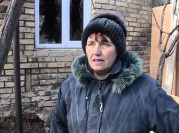 Последствия обстрелов боевиками н.п.Зайцеве с 1 на 2 февраля 2016