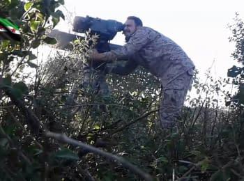 Сирийские повстанцы опубликовали видео уничтожения российских офицеров