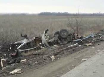 Возле Марьинки на мине подорвался гражданский микроавтобус
