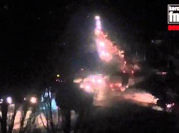 Через Керчь проехало около 40 едениц военной техники, 09.02.2016