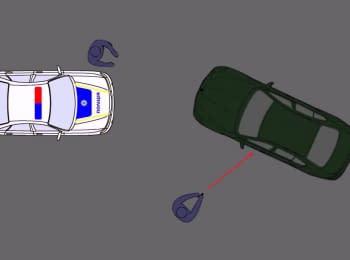 Запис з відеореєстраторів працівників поліції щодо інциденту з BMW