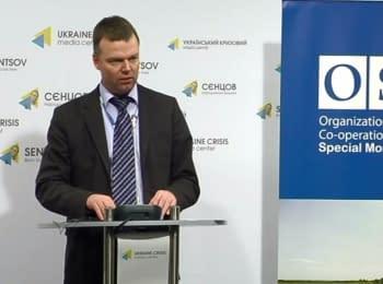 Александр Хуг щодо діяльності СММ ОБСЄ в Україні, 19.02.2016