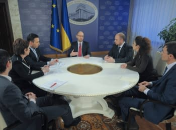 Interview of Arseniy Yatsenyuk to Ukrainian TV channels