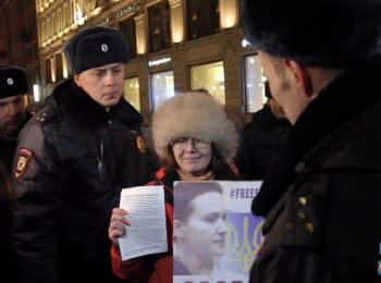 Народный сход в Санкт-Петербурге в поддержку Надежды Савченко