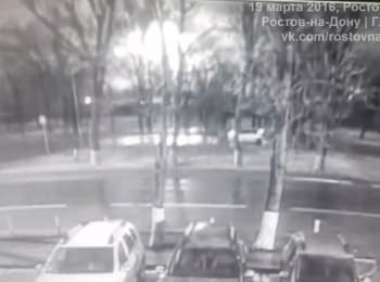 Plane crash in Rostov-on-Don. Video from surveillance camera