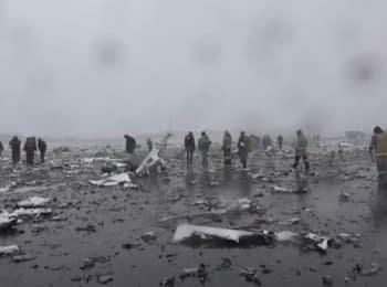 """Місце катастрофи """"Боїнга-737"""" в Ростові-на-Дону"""