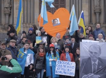 March against the Crimea's annexation in Prague. Festival «CrimeanSOS»