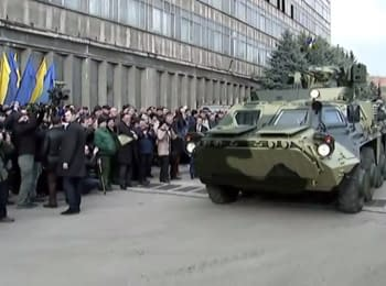 Poroshenko tested the BTR-4