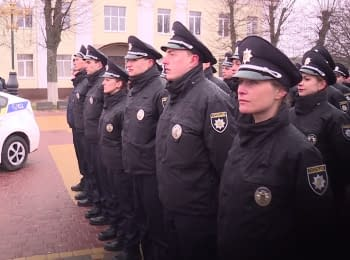 Boryspil police patrol took an oath of allegiance to the Ukrainian people
