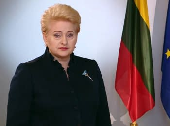 (English) Dalia Grybauskaite about the referendum in Netherlands