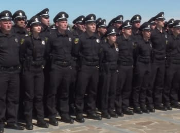 Patrol police of Zaporizhya took an oath of the allegiance to the Ukrainian people