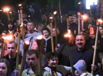 В Черкассах с факелами прошли маршем памяти