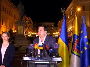 Press conference of Mikheil Saakashvili. Odessa, May 2