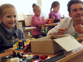 Orlando Bloom visited east of Ukraine as a UNICEF Goodwill Ambassador