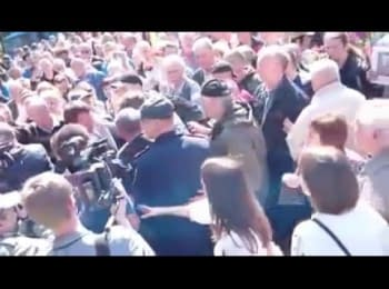 Clashes near the Memorial of Glory in Kharkiv