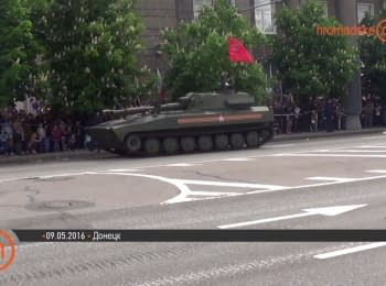 Military parade in occupied Donetsk