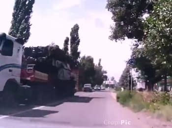 "New video of ""Buk"" missile system in Makeevka"