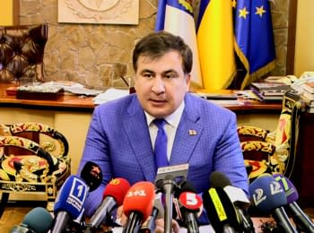Saakashvili' press conference about the searches at the Odessa Regional State Administration
