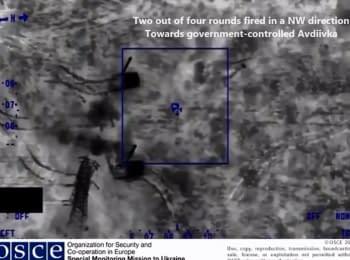 """Безпілотник ОБСЄ виявив в Мінеральному (під контролем бойовиків ДНР) дві САУ 2С3 """"Акація"""" (152мм)"""