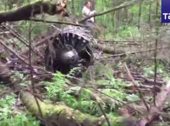 У Підмосков'ї розбився російський винищувач Су-27